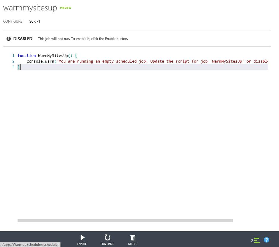 Azure Script Editor